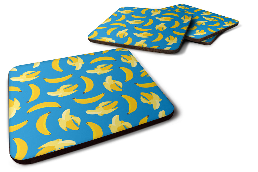 Buy this Bananas on Blue Foam Coaster Set of 4 BB5149FC