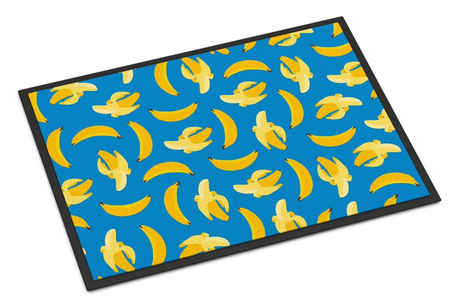 Bananas on Blue Indoor or Outdoor Mat 24x36 BB5149JMAT by Caroline's Treasures