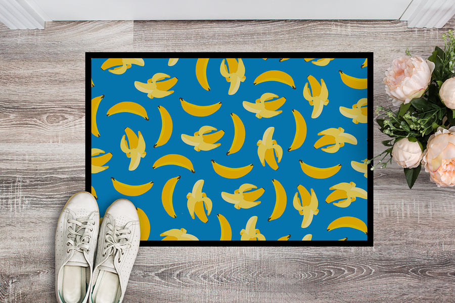 Buy this Bananas on Blue Indoor or Outdoor Mat 18x27 BB5149MAT