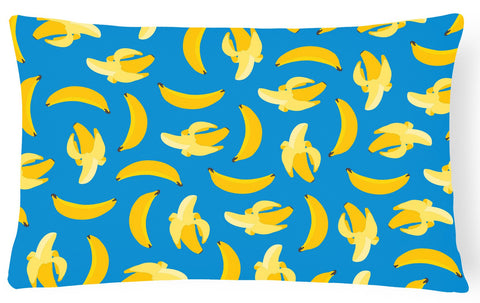 Buy this Bananas on Blue Canvas Fabric Decorative Pillow BB5149PW1216