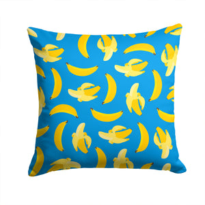 Buy this Bananas on Blue Fabric Decorative Pillow BB5149PW1414