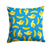 Bananas on Blue Fabric Decorative Pillow BB5149PW1414 by Caroline's Treasures