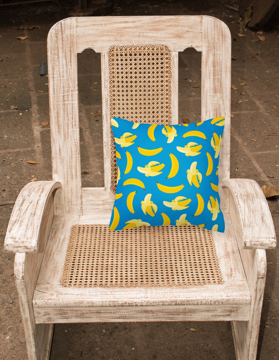 Buy this Bananas on Blue Fabric Decorative Pillow BB5149PW1818