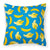 Bananas on Blue Fabric Decorative Pillow BB5149PW1818 by Caroline's Treasures