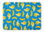 Bananas on Blue Machine Washable Memory Foam Mat BB5149RUG by Caroline's Treasures
