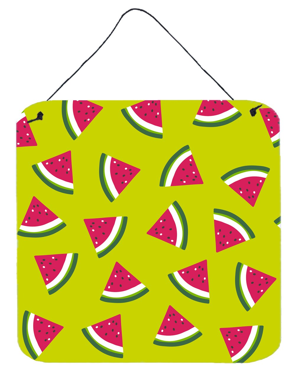 Watermelon on Lime Green Wall or Door Hanging Prints by Caroline's Treasures