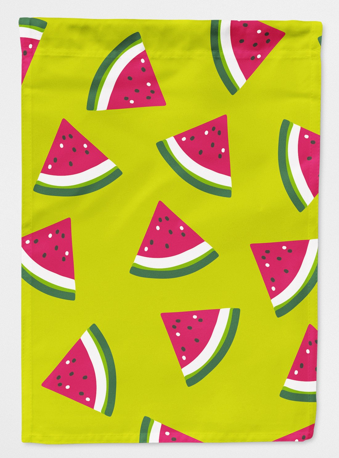 Watermelon on Lime Green Flag Garden Size BB5151GF by Caroline's Treasures
