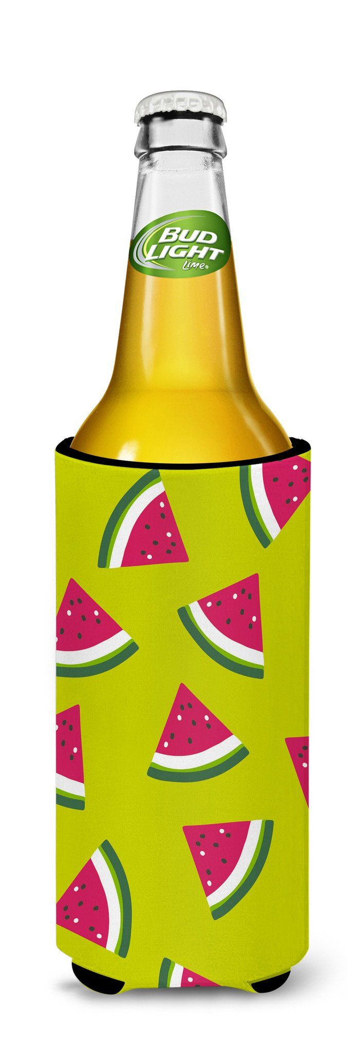 Watermelon on Lime Green Michelob Ultra Hugger for slim cans BB5151MUK by Caroline's Treasures