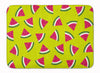 Watermelon on Lime Green Machine Washable Memory Foam Mat BB5151RUG by Caroline's Treasures