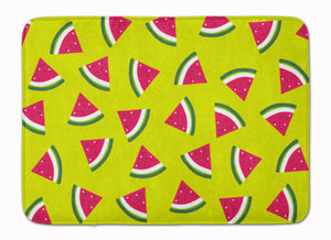 Buy this Watermelon on Lime Green Machine Washable Memory Foam Mat BB5151RUG