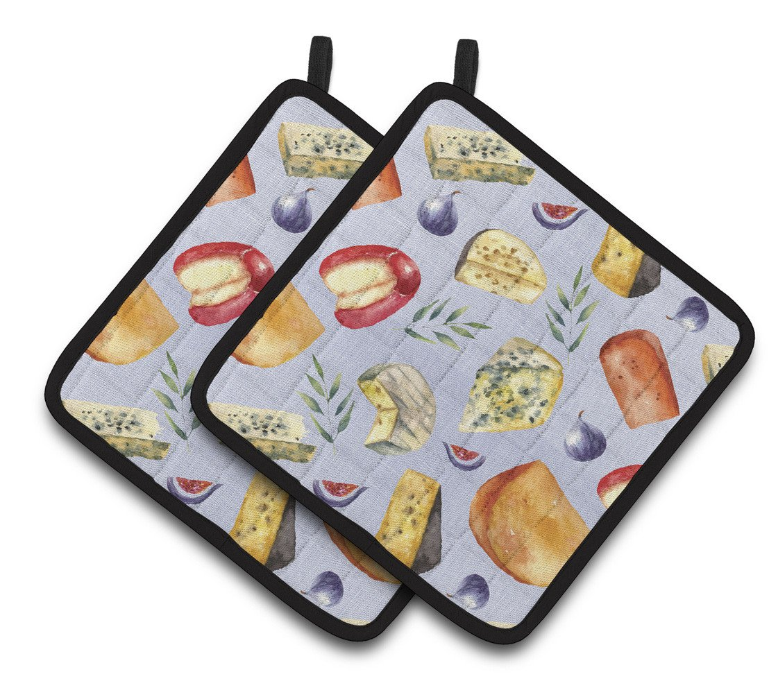 Buy this Assortment of Cheeses Pair of Pot Holders BB5198PTHD