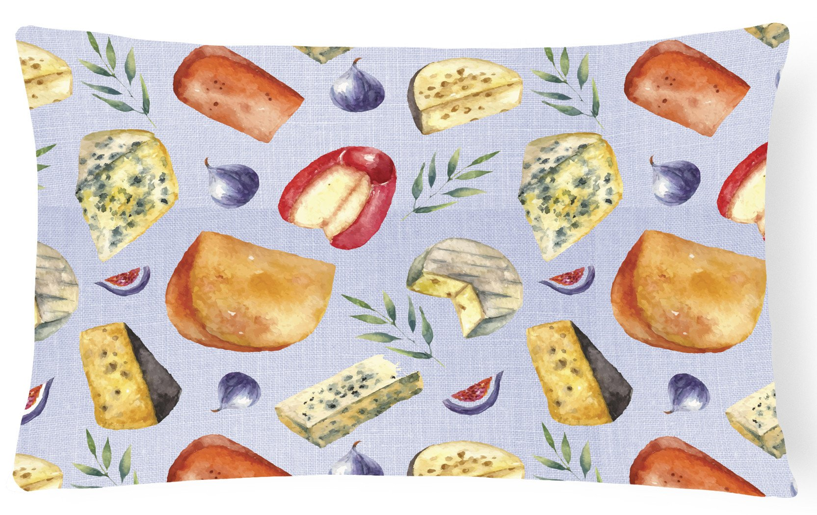 Buy this Assortment of Cheeses Canvas Fabric Decorative Pillow BB5198PW1216