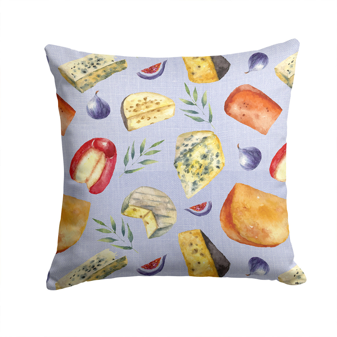 Buy this Assortment of Cheeses Fabric Decorative Pillow BB5198PW1414