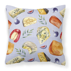 Buy this Assortment of Cheeses Fabric Decorative Pillow BB5198PW1818