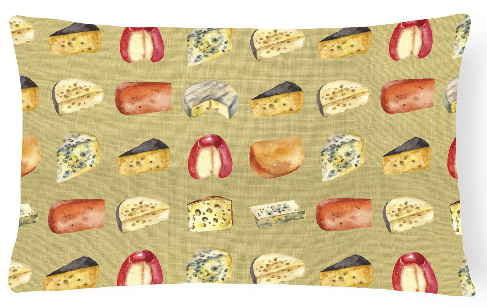 Buy this Cheeses Canvas Fabric Decorative Pillow BB5199PW1216