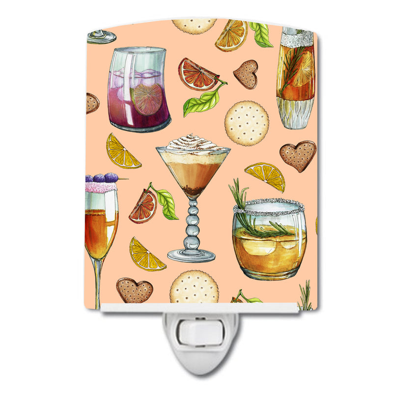 Buy this Drinks and Cocktails Peach Ceramic Night Light BB5200CNL