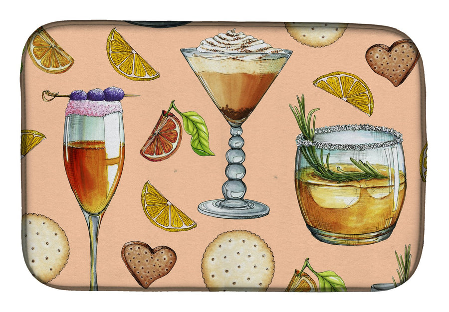 Buy this Drinks and Cocktails Peach Dish Drying Mat BB5200DDM