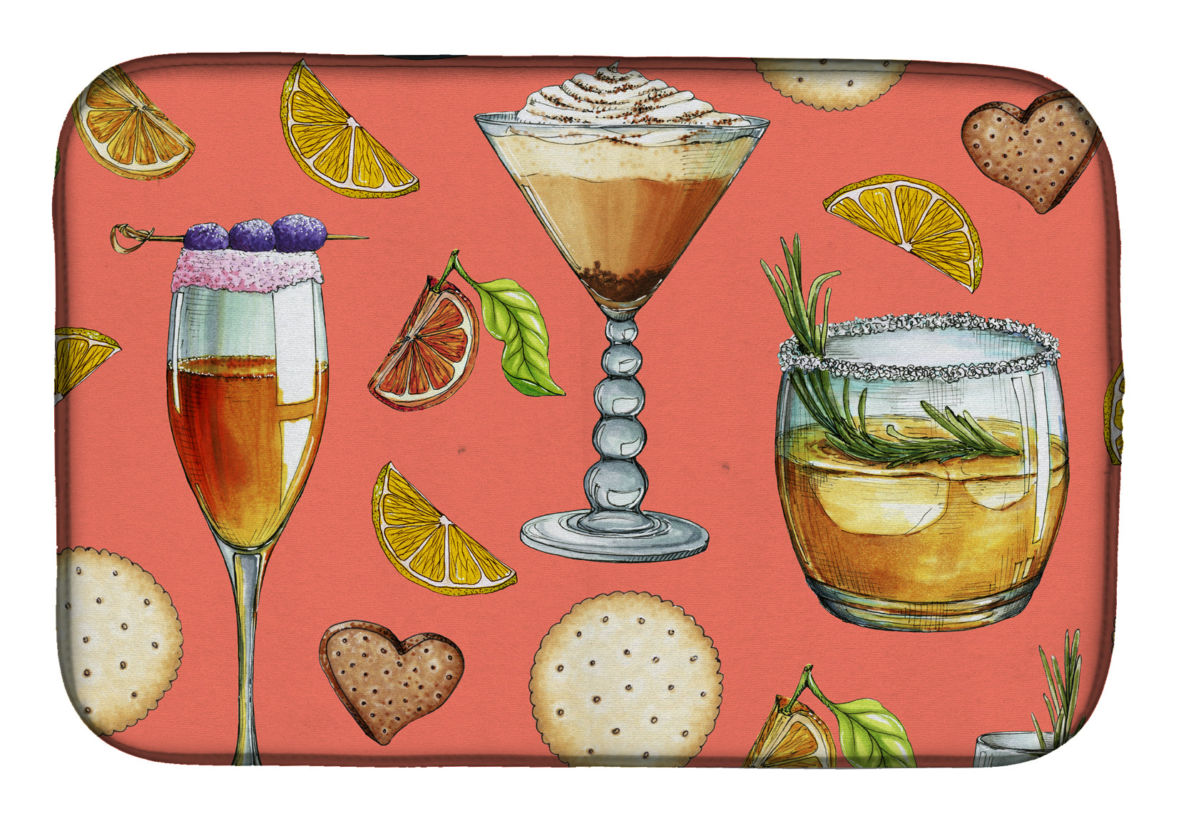 Buy this Drinks and Cocktails Salmon Dish Drying Mat BB5201DDM