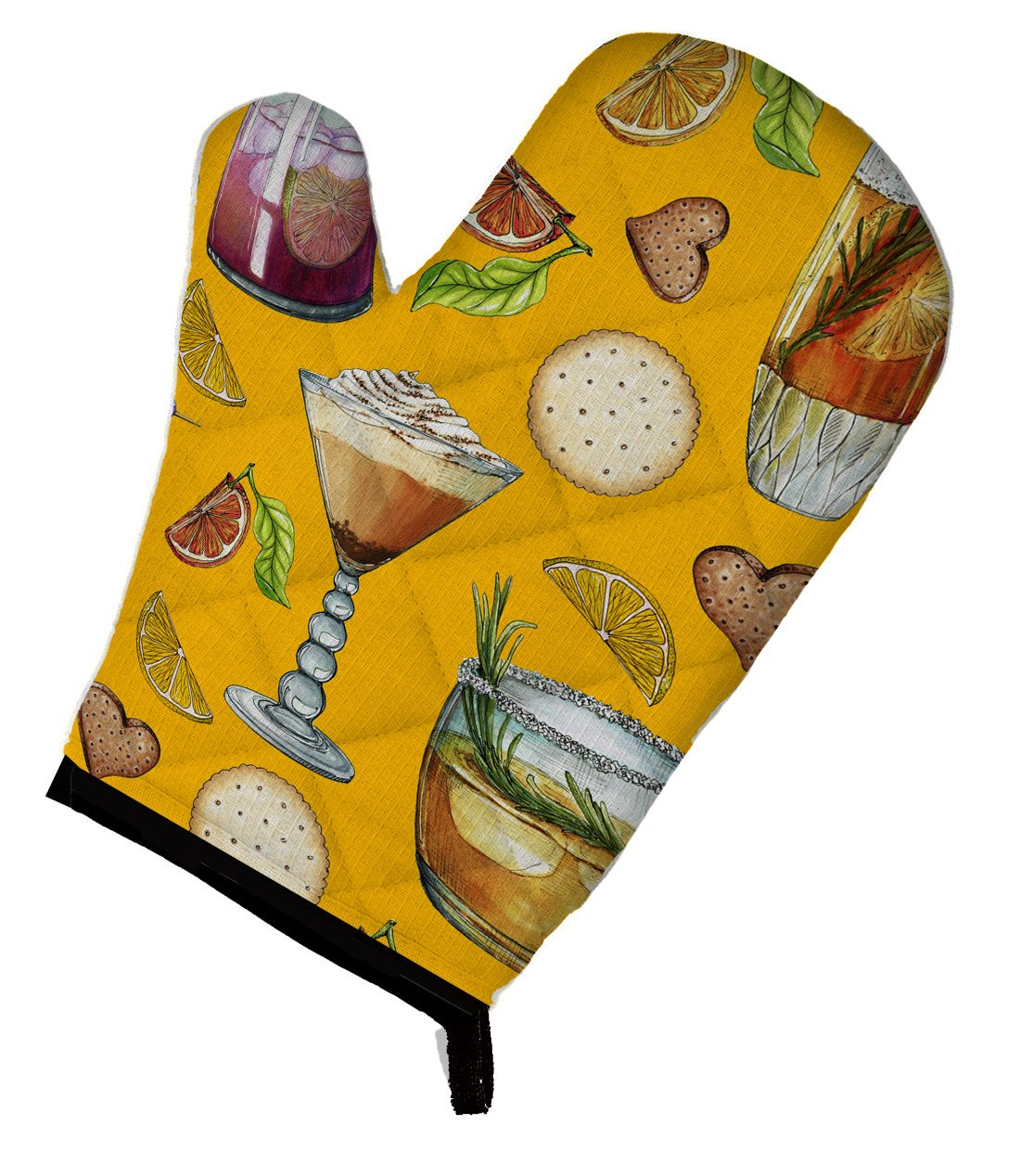 Drinks and Cocktails Gold Oven Mitt BB5202OVMT by Caroline's Treasures