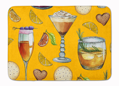 Buy this Drinks and Cocktails Gold Machine Washable Memory Foam Mat BB5202RUG