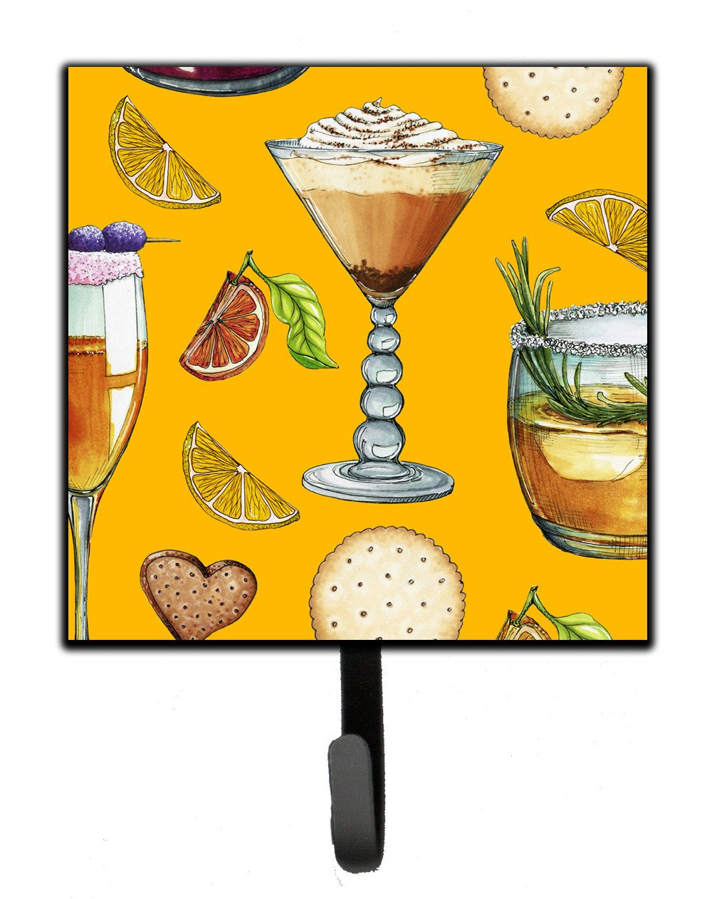 Drinks and Cocktails Gold Leash or Key Holder BB5202SH4 by Caroline's Treasures