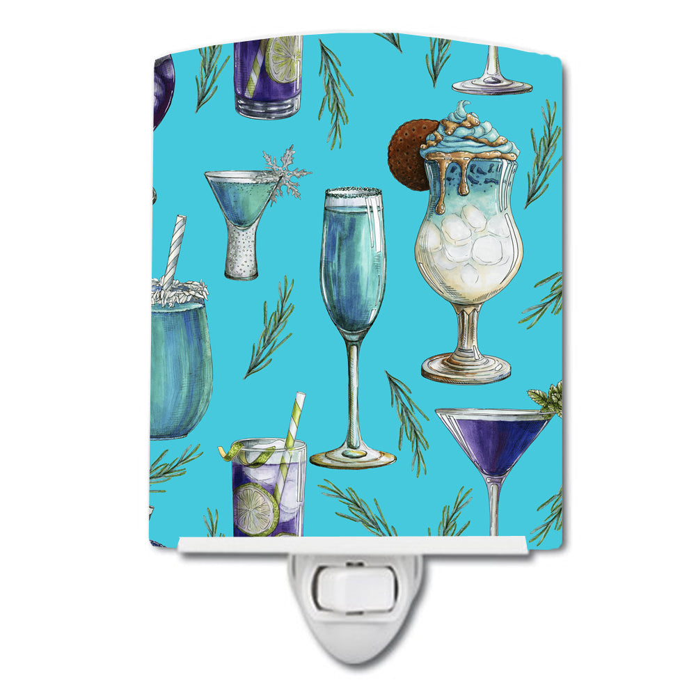 Buy this Drinks and Cocktails Blue Ceramic Night Light BB5203CNL