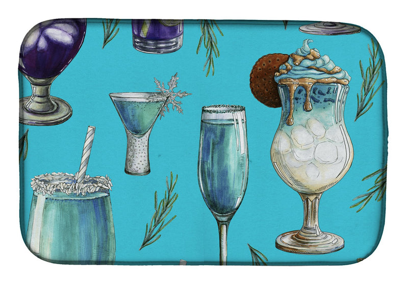 Buy this Drinks and Cocktails Blue Dish Drying Mat BB5203DDM