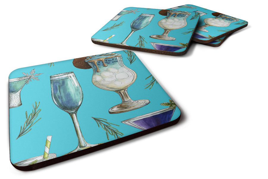 Buy this Drinks and Cocktails Blue Foam Coaster Set of 4 BB5203FC