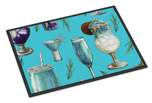 Buy this Drinks and Cocktails Blue Indoor or Outdoor Mat 18x27 BB5203MAT