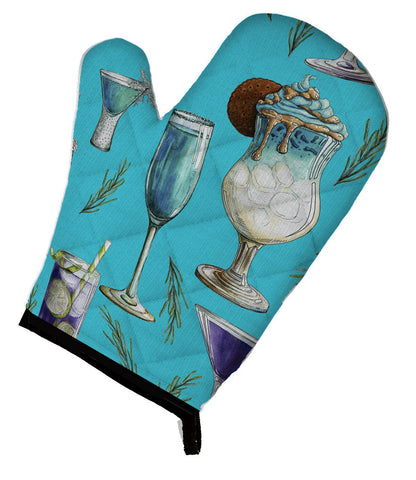 Buy this Drinks and Cocktails Blue Oven Mitt BB5203OVMT