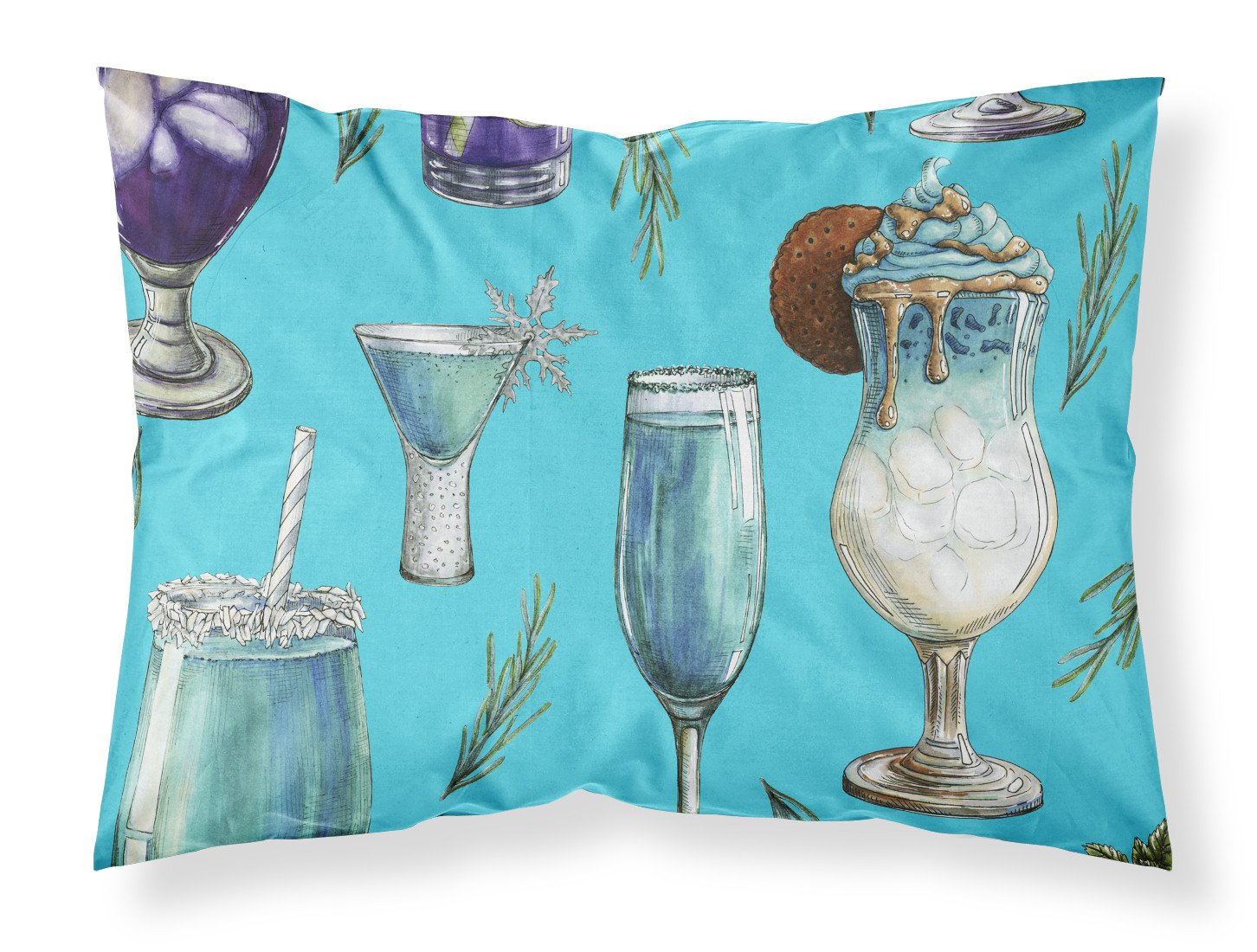 Buy this Drinks and Cocktails Blue Fabric Standard Pillowcase BB5203PILLOWCASE