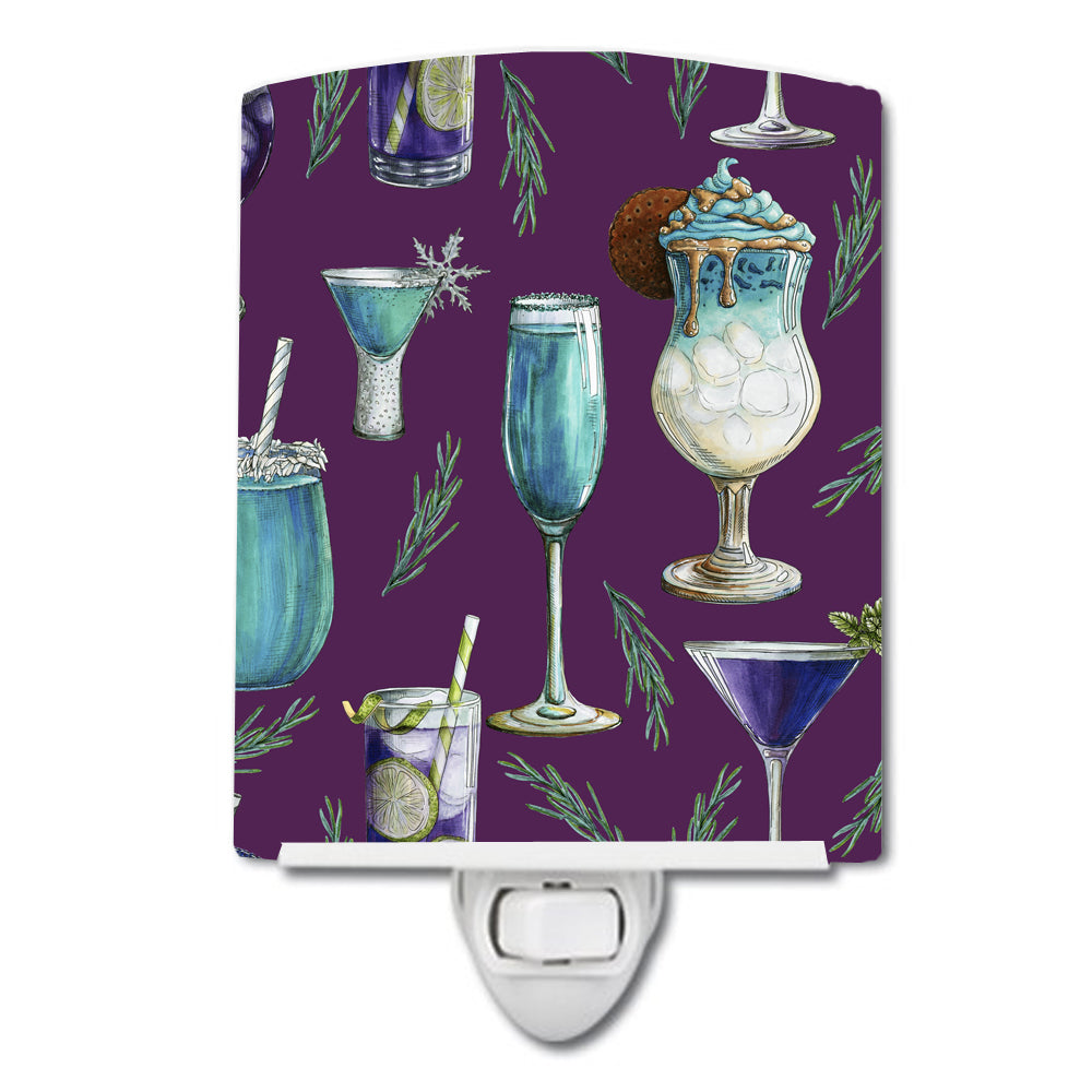 Buy this Drinks and Cocktails Purple Ceramic Night Light BB5204CNL