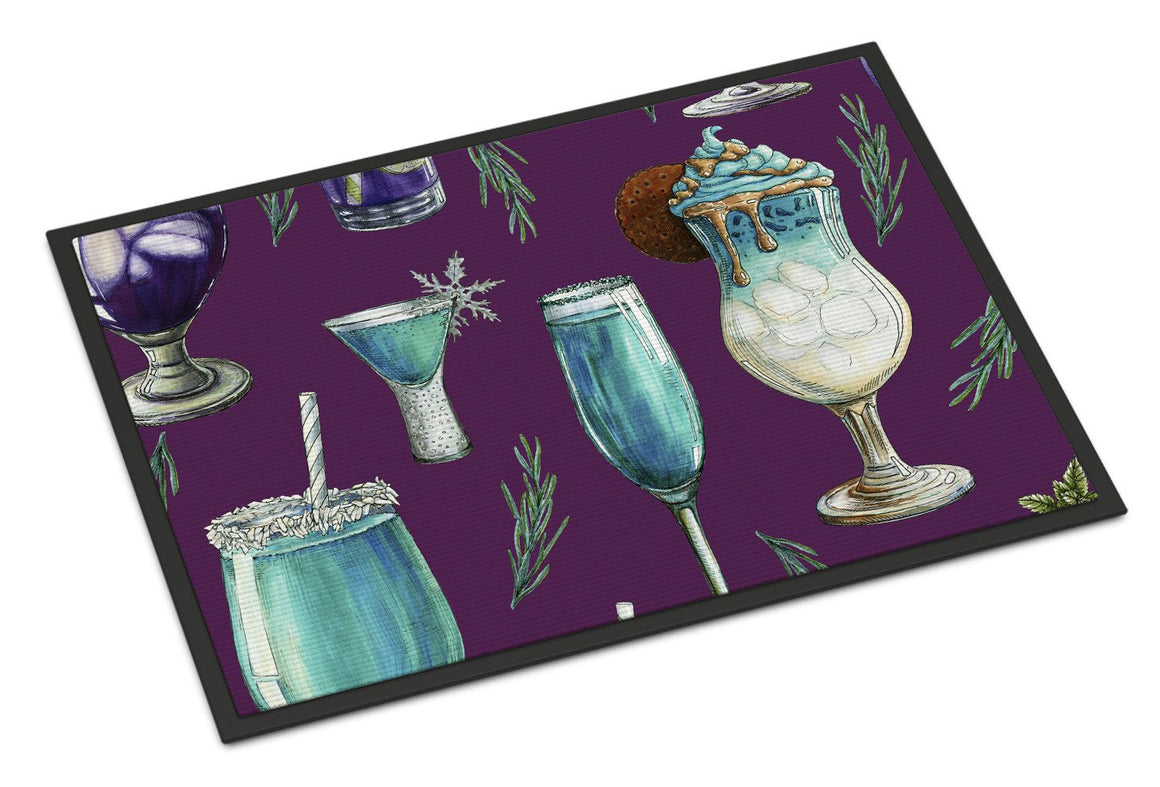 Buy this Drinks and Cocktails Purple Indoor or Outdoor Mat 24x36 BB5204JMAT