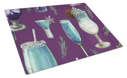 Buy this Drinks and Cocktails Purple Glass Cutting Board Large BB5204LCB