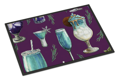 Buy this Drinks and Cocktails Purple Indoor or Outdoor Mat 18x27 BB5204MAT