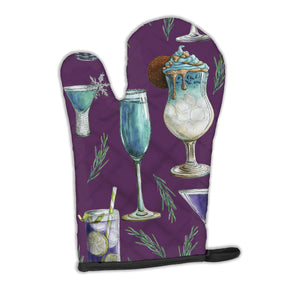 Buy this Drinks and Cocktails Purple Oven Mitt BB5204OVMT