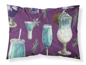 Buy this Drinks and Cocktails Purple Fabric Standard Pillowcase BB5204PILLOWCASE