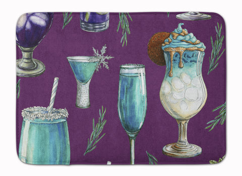 Buy this Drinks and Cocktails Purple Machine Washable Memory Foam Mat BB5204RUG