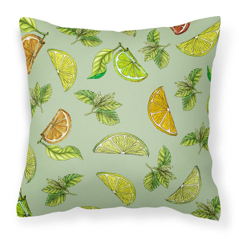 Buy this Lemons, Limes and Oranges Fabric Decorative Pillow BB5206PW1818