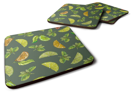 Buy this Lemons, Limes and Oranges Foam Coaster Set of 4 BB5207FC