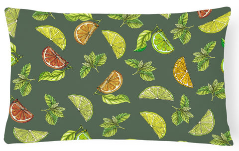 Buy this Lemons, Limes and Oranges Canvas Fabric Decorative Pillow BB5207PW1216