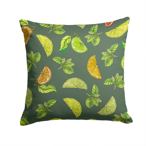 Buy this Lemons, Limes and Oranges Fabric Decorative Pillow BB5207PW1414
