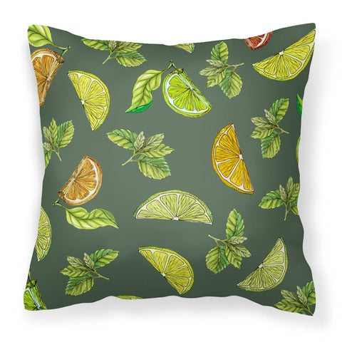 Buy this Lemons, Limes and Oranges Fabric Decorative Pillow BB5207PW1818