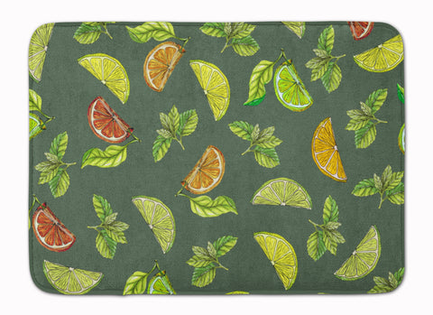 Buy this Lemons, Limes and Oranges Machine Washable Memory Foam Mat BB5207RUG
