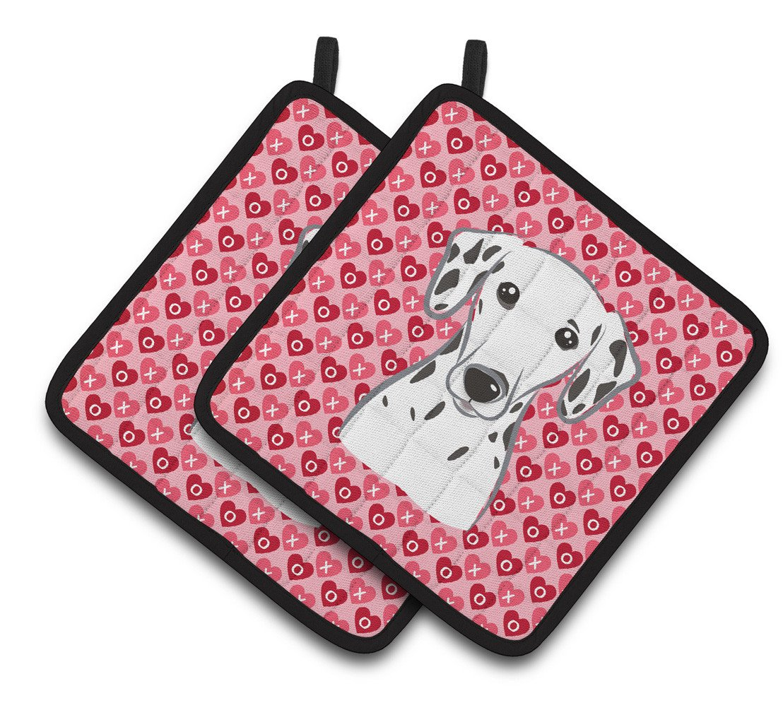 Buy this Dalmatian Hearts Pair of Pot Holders BB5280PTHD