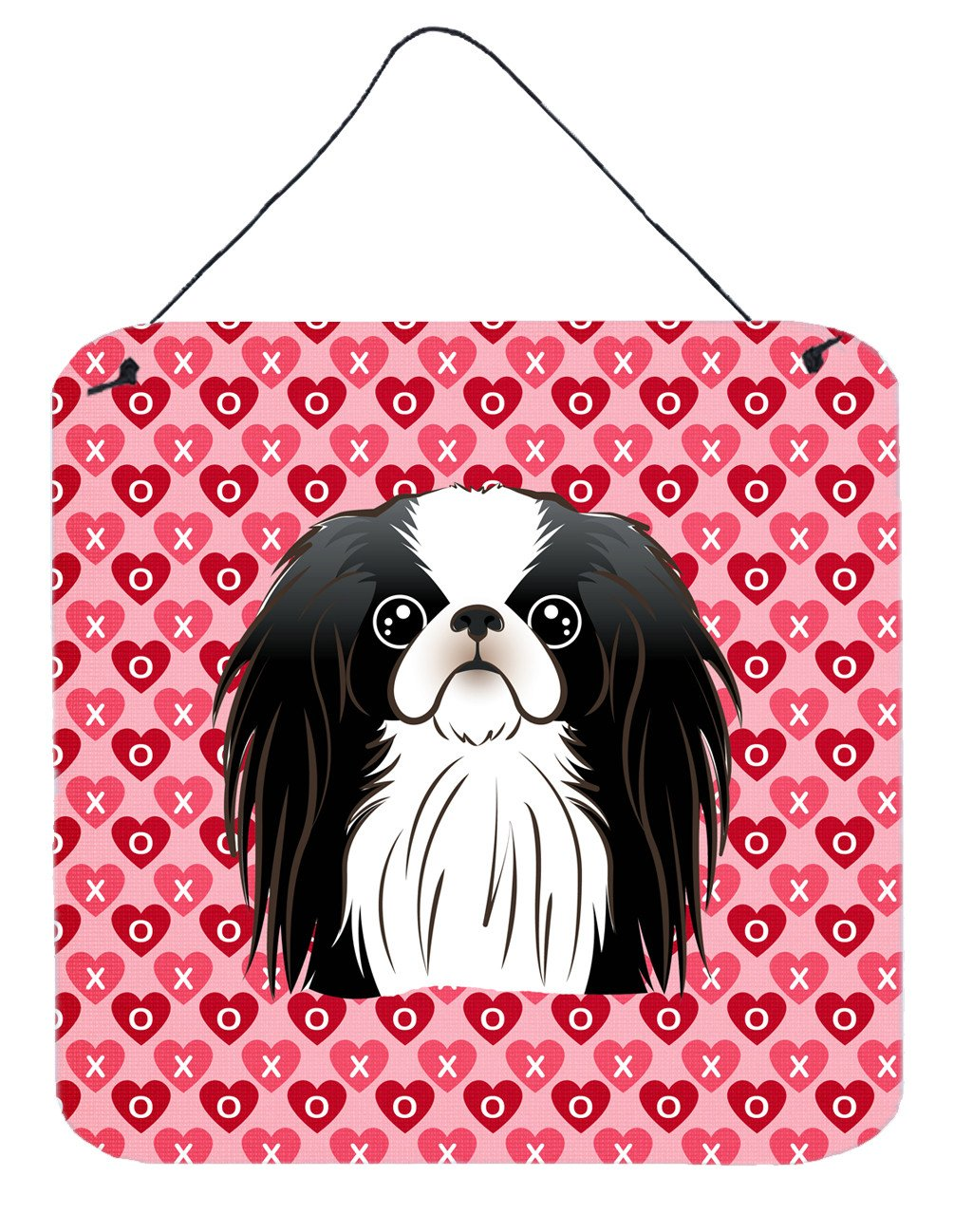 Japanese Chin Hearts Wall or Door Hanging Prints BB5300DS66 by Caroline's Treasures