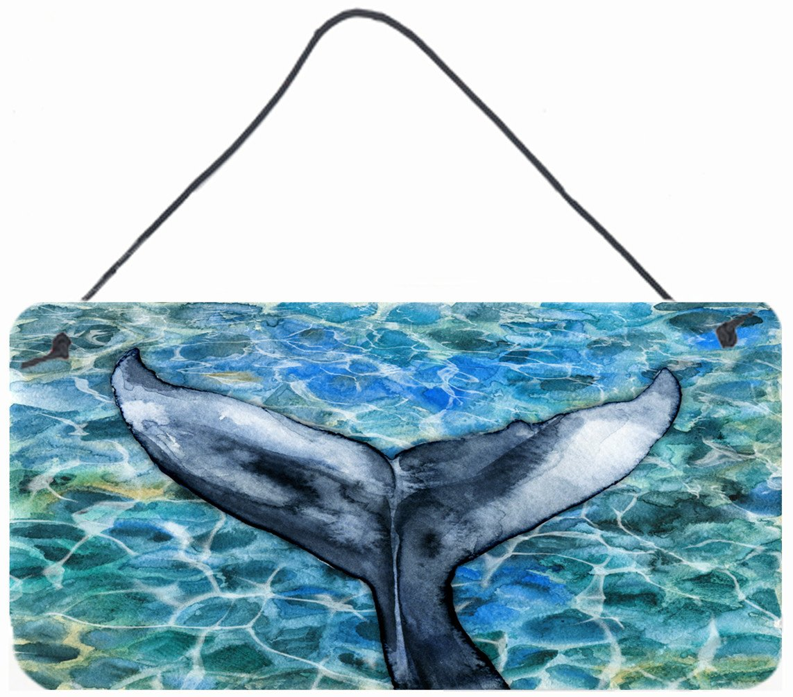 Whale Tail Wall or Door Hanging Prints BB5337DS812 by Caroline's Treasures
