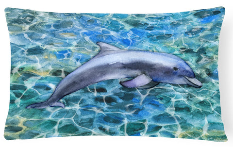 Buy this Dolphin Canvas Fabric Decorative Pillow BB5339PW1216