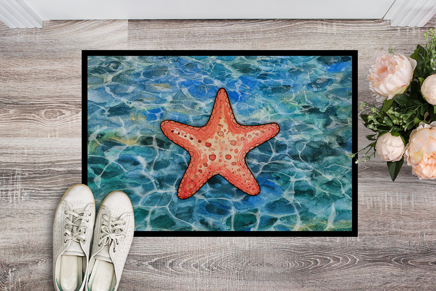 Starfish Indoor or Outdoor Mat 18x27 BB5341MAT by Caroline's Treasures