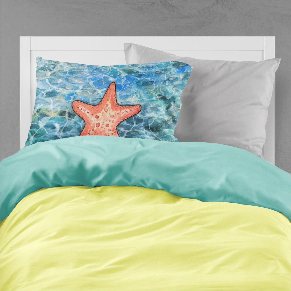 Starfish Fabric Standard Pillowcase BB5341PILLOWCASE by Caroline's Treasures